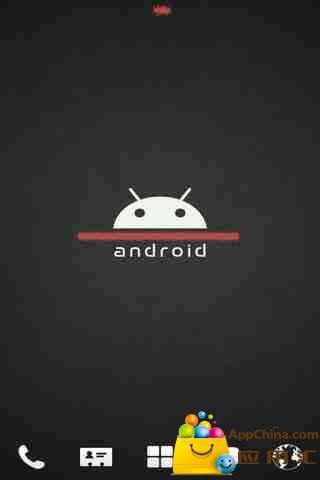 GO主题-经典安卓小机器人 黑