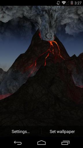3D火山-梦象动态壁纸截图0