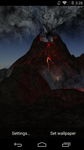 3D火山-梦象动态壁纸截图1