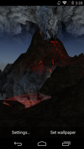 3D火山-梦象动态壁纸截图2