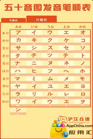 日语50音图截图1