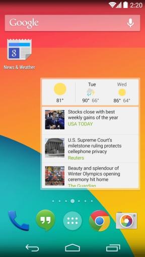 Google新闻和天气