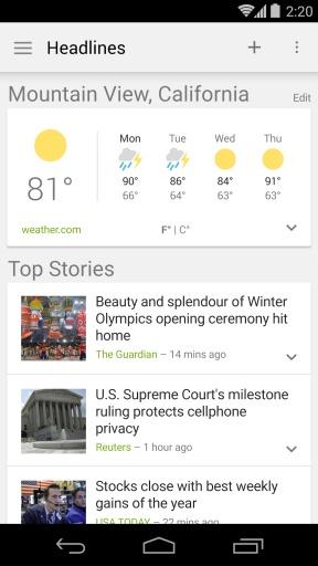 Google新闻和天气截图1