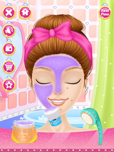公主时尚一站式沙龙-女孩游戏截图1