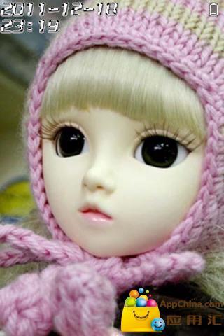 大眼睛SD娃娃动态锁屏