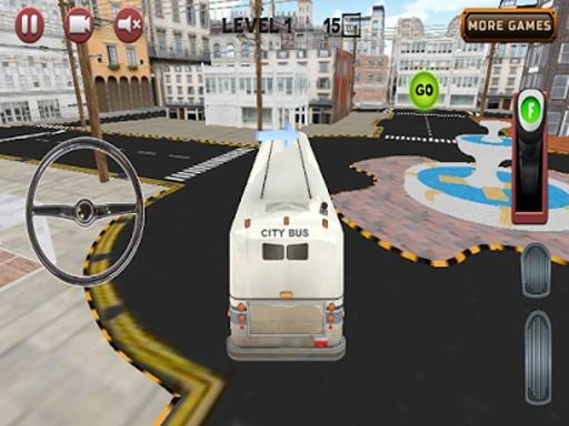 城市公交车,停车场3D截图1