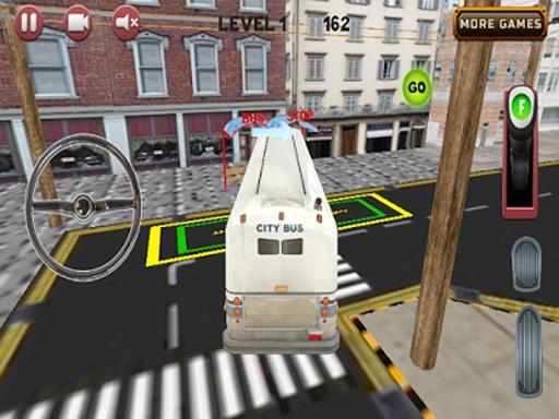 城市公交车,停车场3D截图3