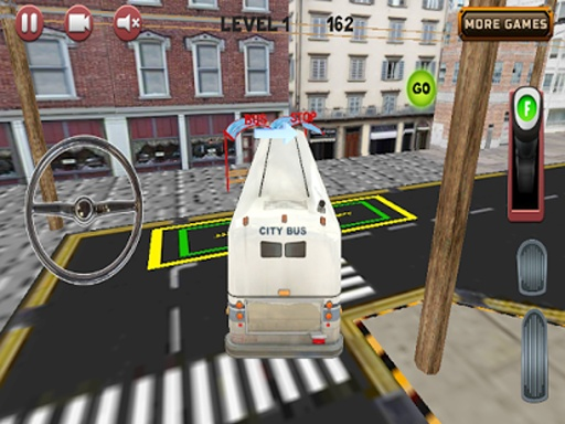 城市公交车,停车场3D截图8