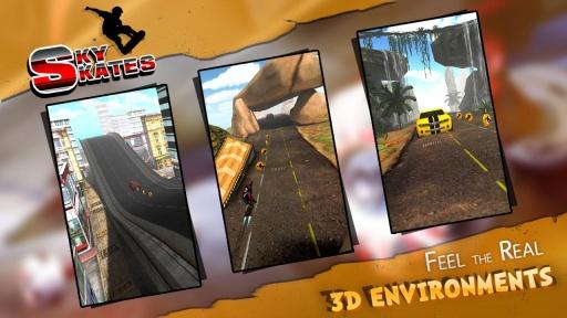 3D滑板跑酷截图4