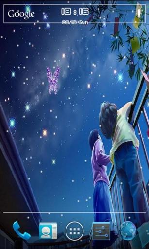浪漫星空动态壁纸锁屏截图3