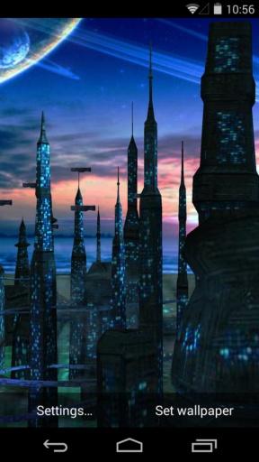 3D蓝色星球-梦象动态壁纸截图0