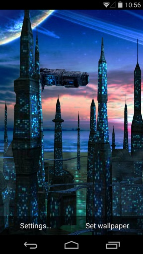 3D蓝色星球-梦象动态壁纸截图1