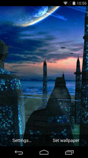 3D蓝色星球-梦象动态壁纸截图2