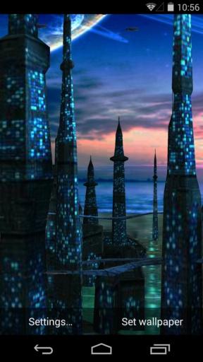 3D蓝色星球-梦象动态壁纸截图3