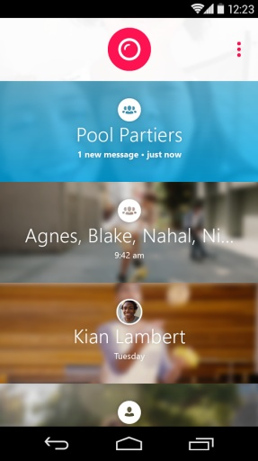 Skype群组视频消息