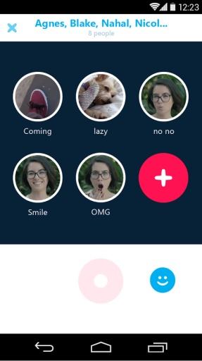 Skype群组视频消息截图3