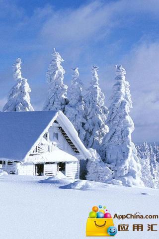 冬日雪景动态壁纸截图0