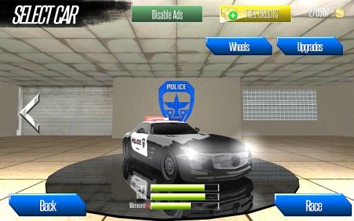 跑车和警察截图0