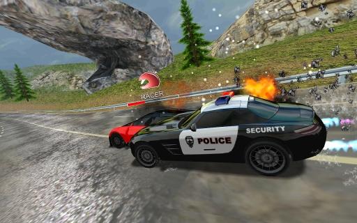 跑车和警察截图1