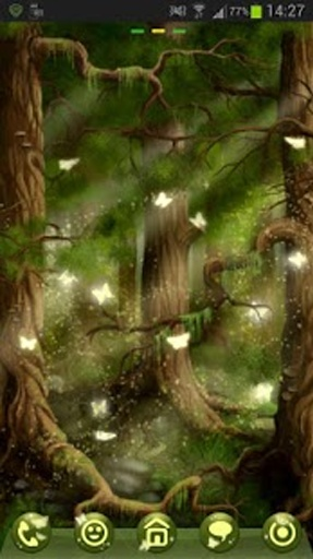GO Launcher EX Theme 桌面EX主題森林截图0