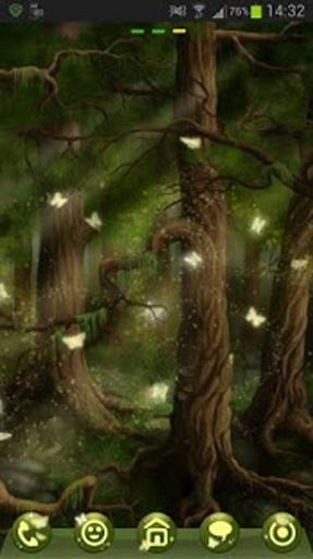 GO Launcher EX Theme 桌面EX主題森林截图3