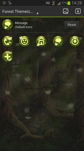 GO Launcher EX Theme 桌面EX主題森林截图8