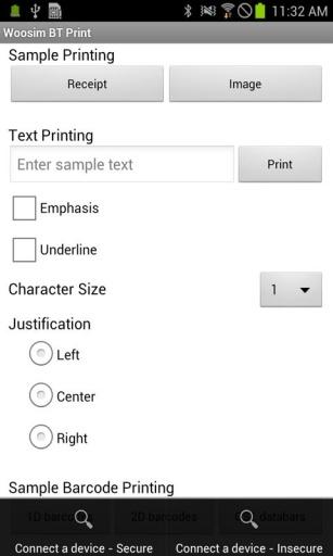 Woosim BT printer