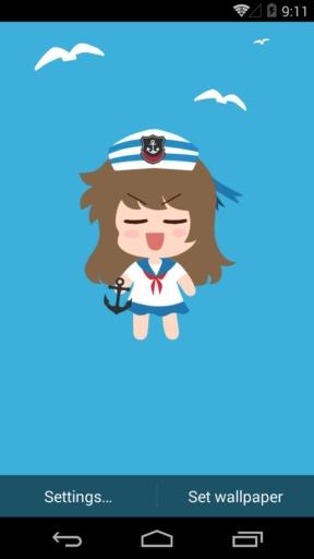 伟大的安妮之海军装-梦象动态壁纸