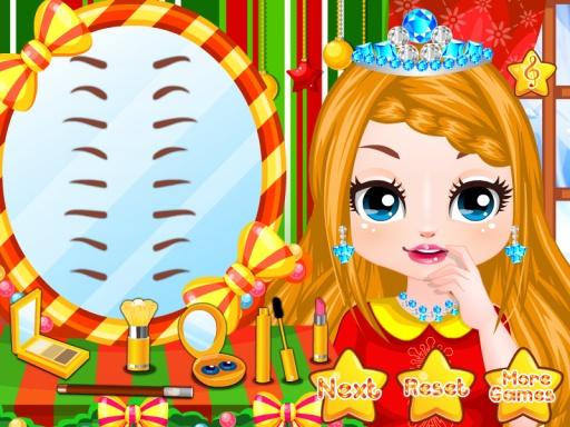 给公主化妆小游戏_化妆公主圣诞节 游戏