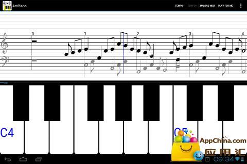 ActPiano: 钢琴和乐谱截图1