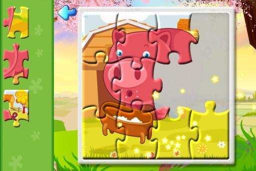 雪人奇特的动物园为主题乐园的拼图游戏故事