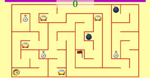 简单的迷宫儿童.  免费学习游戏的孩子有无限数量的难题.
