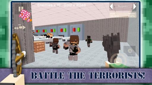 Survival Gun 3d - Block Wars截图2