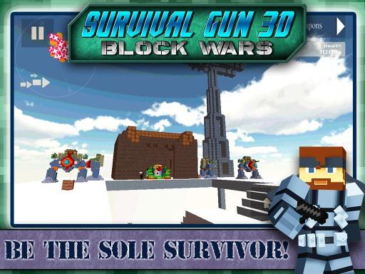 Survival Gun 3d - Block Wars截图5