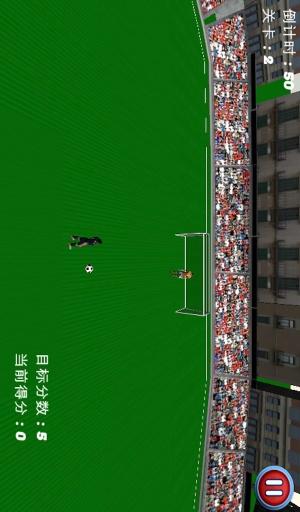 踢足球-3D射门游戏截图0