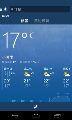 MSN天氣