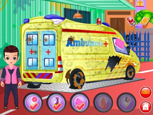 救护车洗清洗游戏