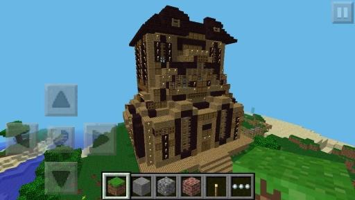 minecraft pe castle