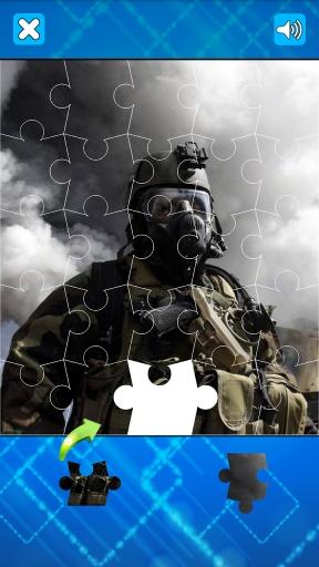 现代士兵和武器