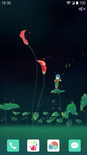 花语之海芋恋-梦象动态壁纸截图1