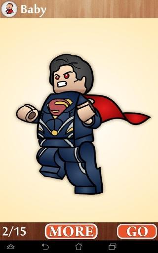 乐高蝙蝠侠,超人乐高积木