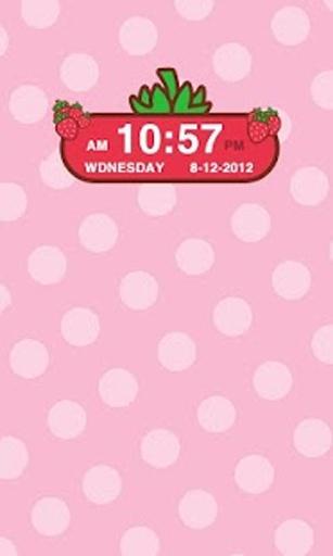 草莓时钟小部件截图1