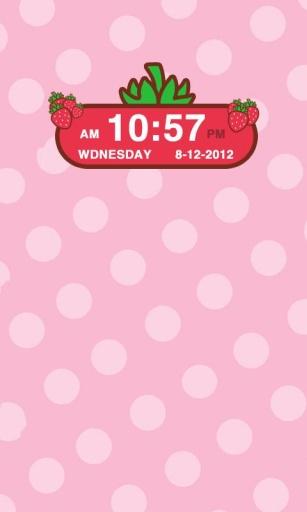 草莓时钟小部件截图3