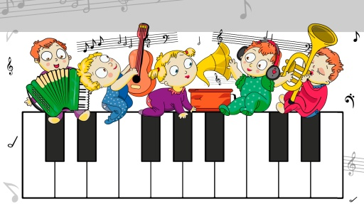 钢琴老师矢量图