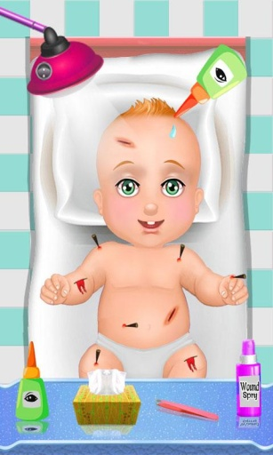 圣诞节的虚拟婴儿护理