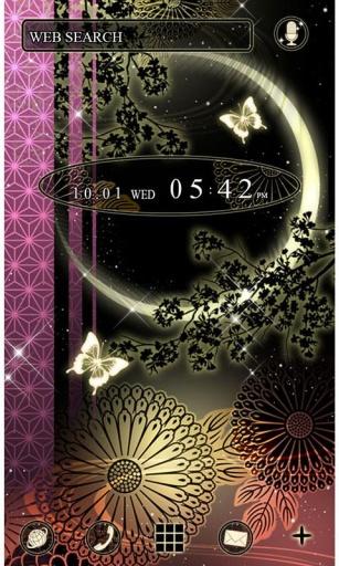 日式蝴蝶月夜截图0