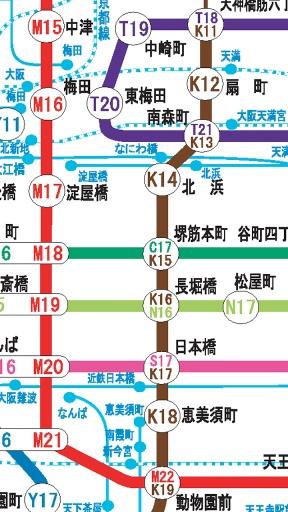大阪地铁路线图