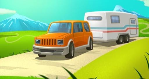度假拖车停车场3D