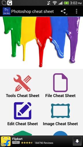 Photoshop cheat sheet