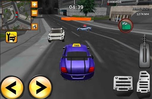 出租车司机疯狂的3D赛车